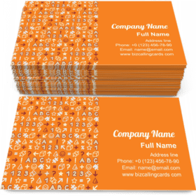 Seamless Educational Pattern Business Card Template