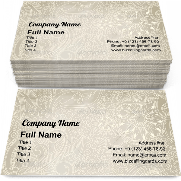 Sample of Seamless Vintage Pattern business card design for advertisements marketing ideas and promote vintage ornament branding identity