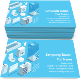 Set of Bathroom Business Card Template