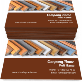 Set of wooden furniture Business Card Template