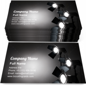 Several reflectors Business Card Template