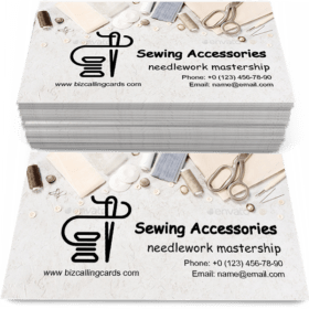Sewing accessories Business Card Template