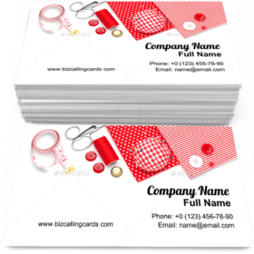 Sewing items pillow Business Card Template