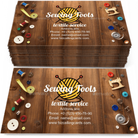 Sewing tools and accessories Business Card Template