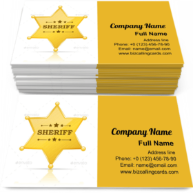 Sheriff Badge Business Card Template