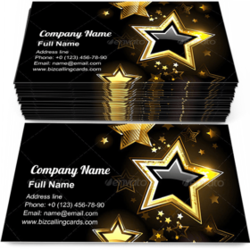 Shiny Gold Star Business Card Template