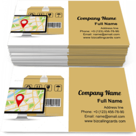 Shipping Parcel Tracking Order Business Card Template