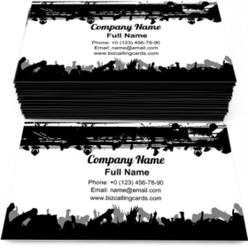 Show Crowd Silhouette Business Card Template