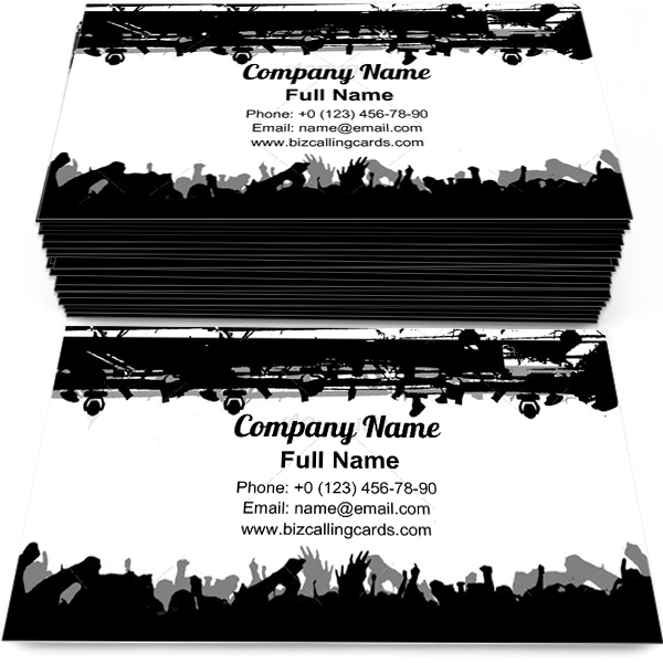 Sample of Show Crowd Silhouette business card design for advertisements marketing ideas and promote theater branding identity