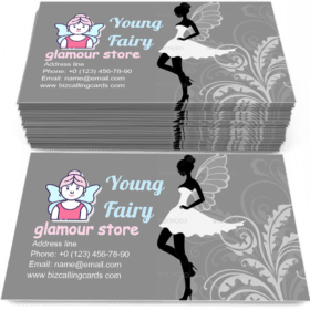 Silhouette of Fairy Business Card Template