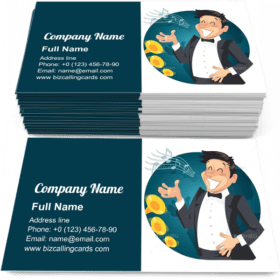 Singer Sing with Orchestra Business Card Template