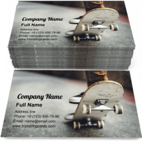 Skateboarding Practice Business Card Template