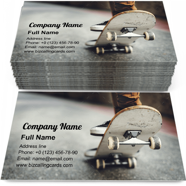 Sample of Skateboarding Practice calling card design for advertisements marketing ideas and promote Freestyle Extreme branding identity