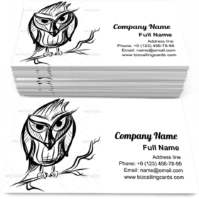 Smart Owl on the Branch Business Card Template