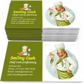 Smiling Cook Shows Okay Business Card Template