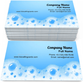 Soap Foam Overlying Business Card Template