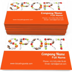 Sport Word from Balls Business Card Template