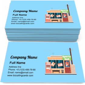 Sports Hall shop Business Card Template