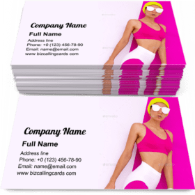 Sports fashion Lady Business Card Template