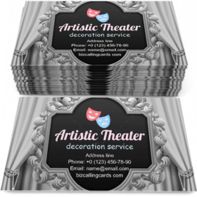 Square Artistic theater Business Card Template