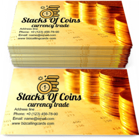 Stacks of coins Business Card Template