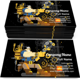 Steam Engineer Working Business Card Template