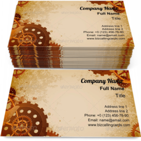 Steampunk Style Business Card Template