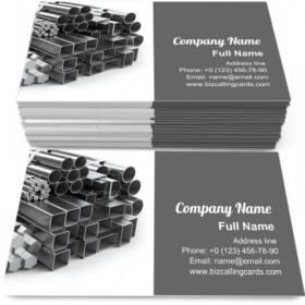 Steel profiles and tubes Business Card Template