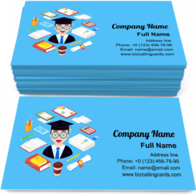 Student and Stationary Business Card Template