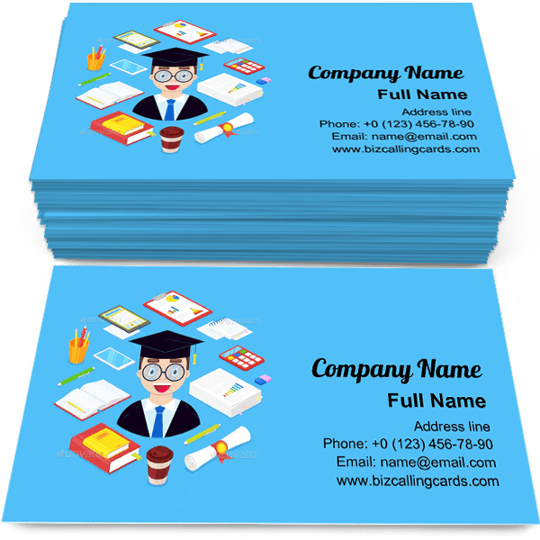 Sample of Student and Stationary calling card design for advertisements marketing ideas and promote undergraduate branding identity