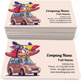 Summer Vacation Journey Business Card Template