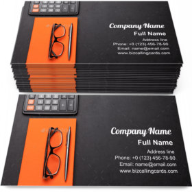 Supplies and calculator Business Card Template