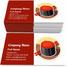 Sushi Japanese Food Business Card Template