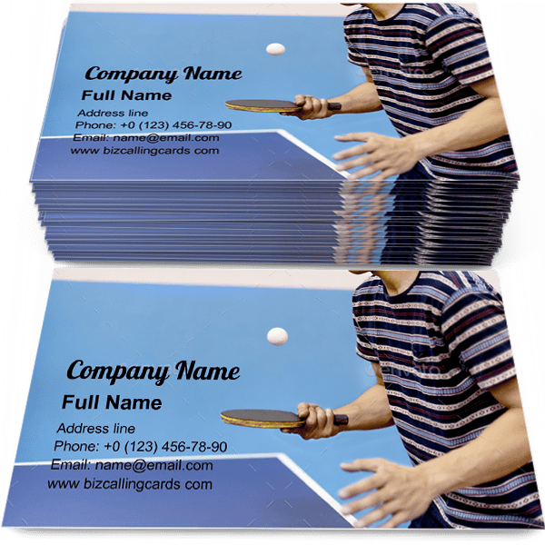 Table Tennis Activity Business Card Template