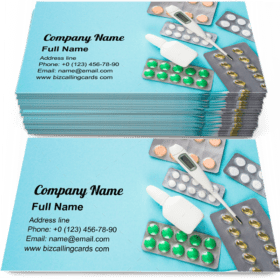 Tablets and medicines Business Card Template