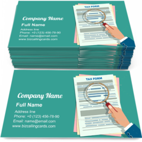 Tax Form Audit Business Card Template