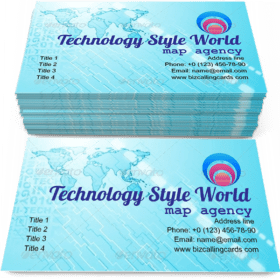 Technology Style world Business Card Template