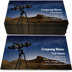 Telescope on a tripod Business Card Template