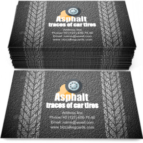 Texture of Asphalt Business Card Template