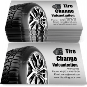 Tire change vulcanization Business Card Template