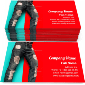 Torn Jeans Fashion Business Card Template