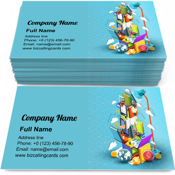Sample of Tower of Books Education calling card design for advertisements marketing ideas and promote education branding identity