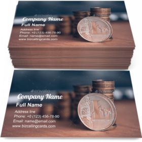 Trading with Litecoin Business Card Template