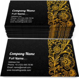 Traditional Floral Ornament Business Card Template