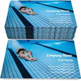 Training swimming pool Business Card Template