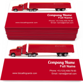 Transportation toy trailer Business Card Template
