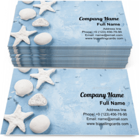 Travel beach vacation Business Card Template