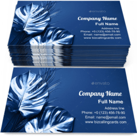 Tropical palm monstera Business Card Template