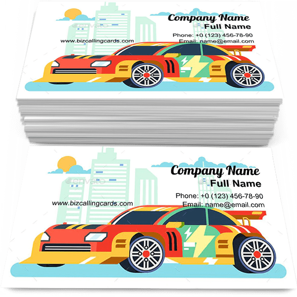 Sample of Tuned machine nitrous oxide calling card design for advertisements marketing ideas and promote motor and vehicle branding identity