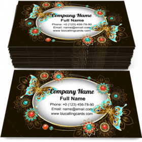 Turquoise Butterflies Business Card Template